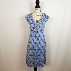 Lilly Pulitzer Butterfly Print Dress. Size Small